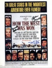 DEBBIE REYNOLDS SIGNED KARL MALDEN,CARRROLL BAKER SIGNED HOW THE WEST WAS WON